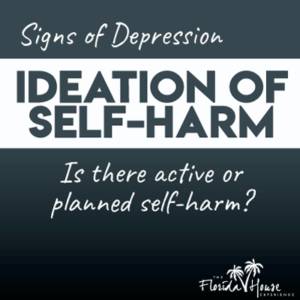 Signs of Depression - Self-harm