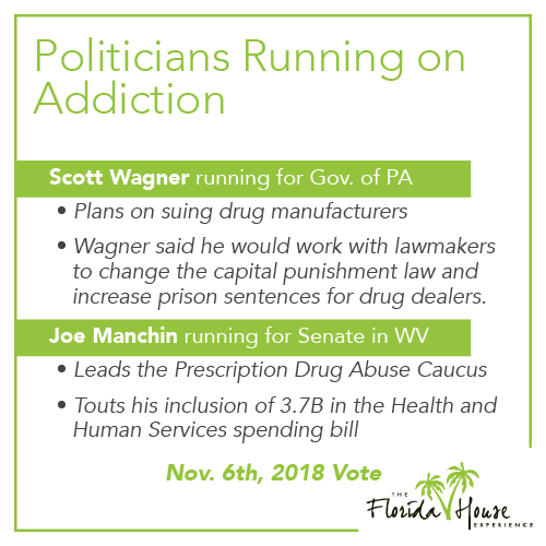 Addiction on the ballot - Politicians running on addiction