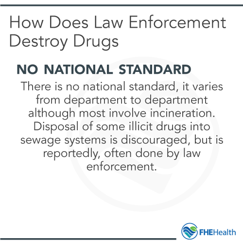 How does law enforcement dispose of drugs