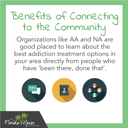 Organizations like AA and NA are good places to learn about the best addiction treatmetn options in your area directly from people who have been there, done that.