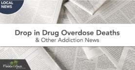 Drop in drug overdose deaths and other addiction news