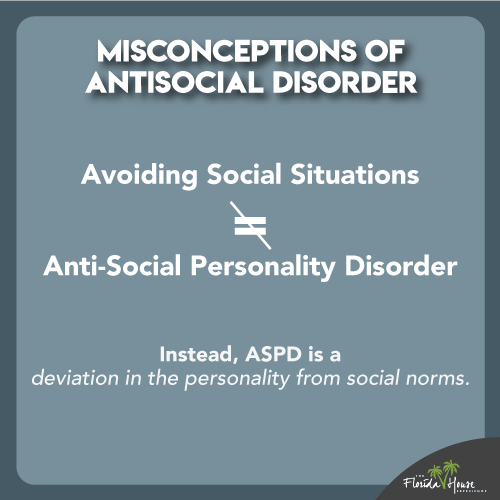 Avoiding social situations is not the same as an anti-personality disorder