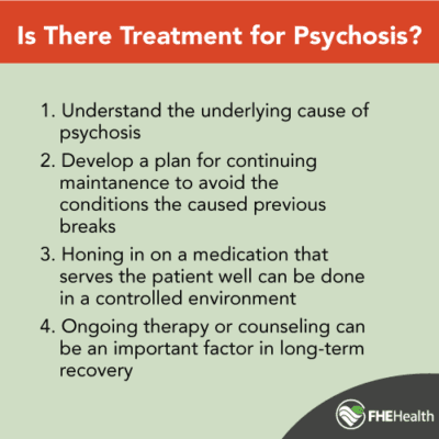What kind of treatment is available for psychosis?