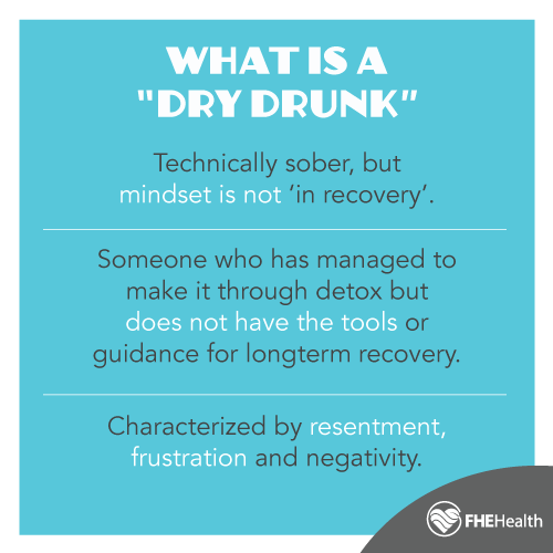 Is a dry drunk really sober? What characterizes it?