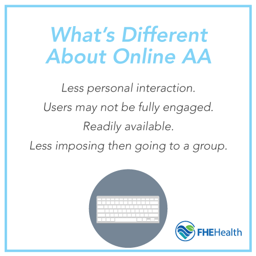 What are online AA meetings?