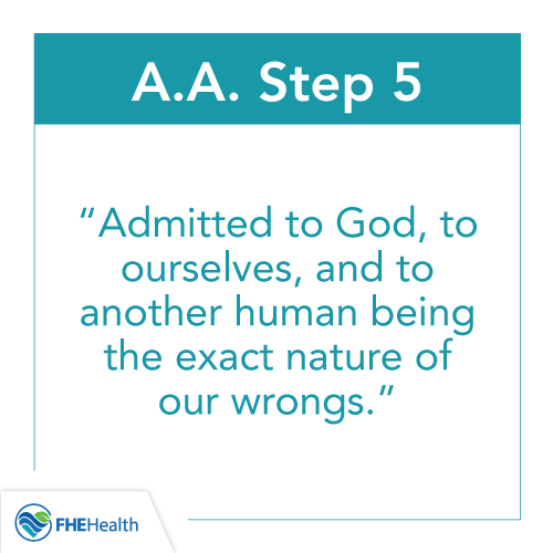 What is Step 5 of AA