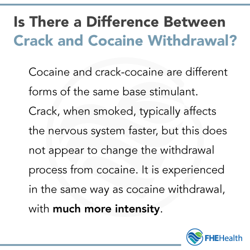 Is there a difference between crack and cocaine withdrawal