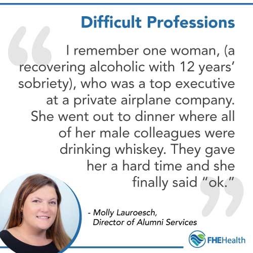 Difficult Professions for Sobriety