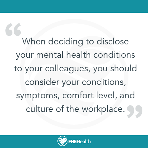 Consider the culture of your workplace when discussing mental health