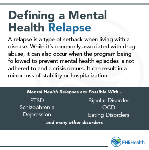 How to define a mental health relapse