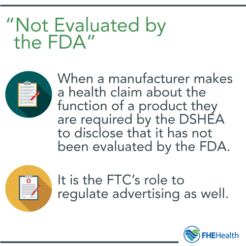 Not Evaluated by the FDA - what does it mean?