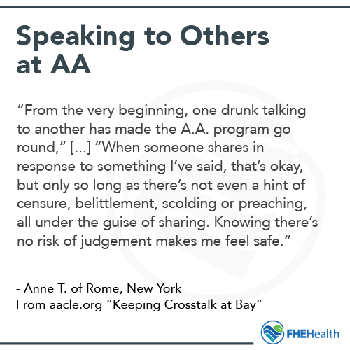 Speaking to Others at AA